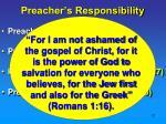 preacher s responsibility