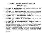 reas operacionales de la log stica