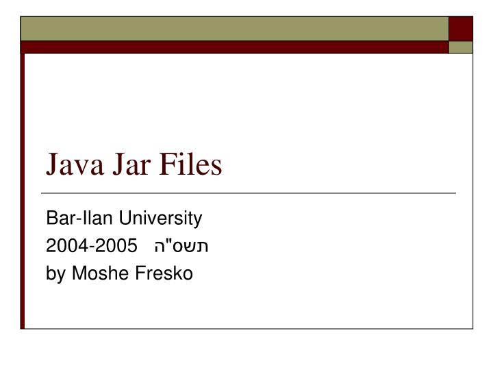 java jar files n.