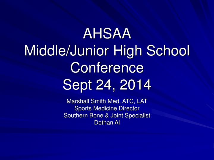 ahsaa middle junior high school conference sept 24 2014 n.