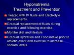 hyponatremia treatment and prevention