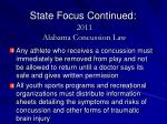 state focus continued