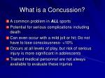 what is a concussion1