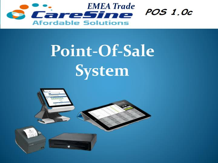 point of sale system n.