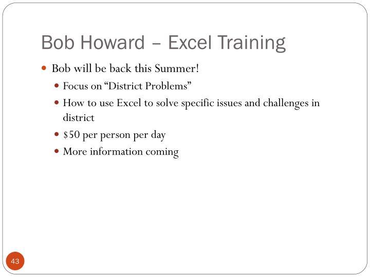 Bob Howard – Excel Training
