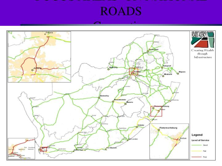 focus areas on national roads congestion n.