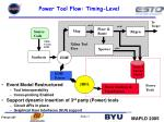 power tool flow timing level