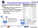timing constraint power optimization