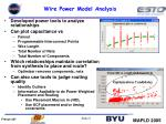 wire power model analysis