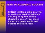 keys to academic success1