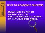 keys to academic success11