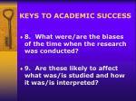 keys to academic success17