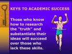 keys to academic success22