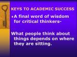 keys to academic success24