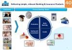 delivering simple relevant banking insurance products