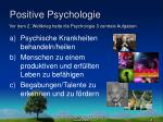 positive psychologie1
