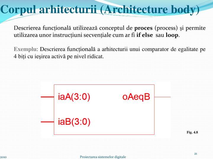 Corpul arhitecturii (Architecture body)