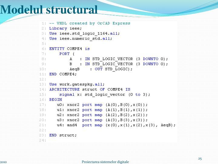 Modelul structural