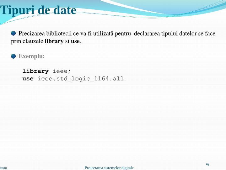 Tipuri de date
