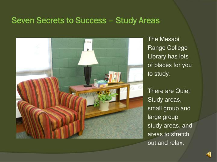 seven secrets to success study areas n.
