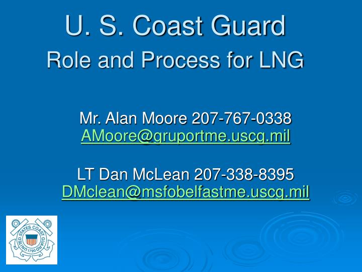 u s coast guard role and process for lng n.