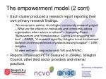 the empowerment model 2 cont