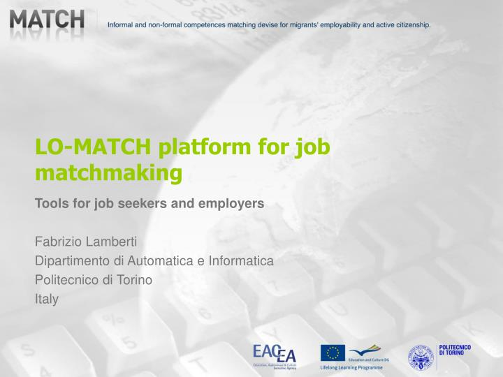 lo match platform for job matchmaking n.