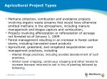 agricultural project types