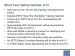 short term safety outlook 4 13