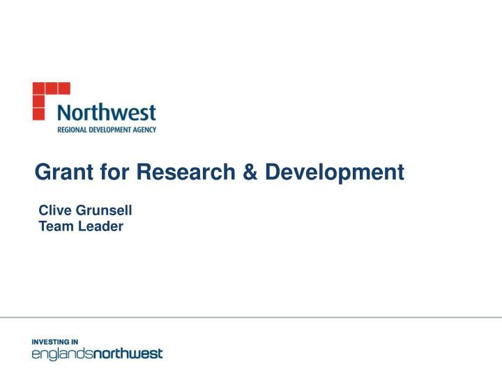 grant for research development n.