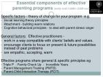 essential components of effective parenting programs early and middle childhood