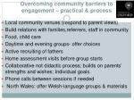 overcoming community barriers to engagement practical process