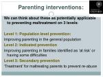 parenting interventions