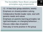 the incredible years basic program principles and components