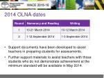 2014 olna dates