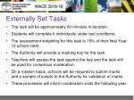 externally set tasks