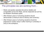 the principles we are working from1