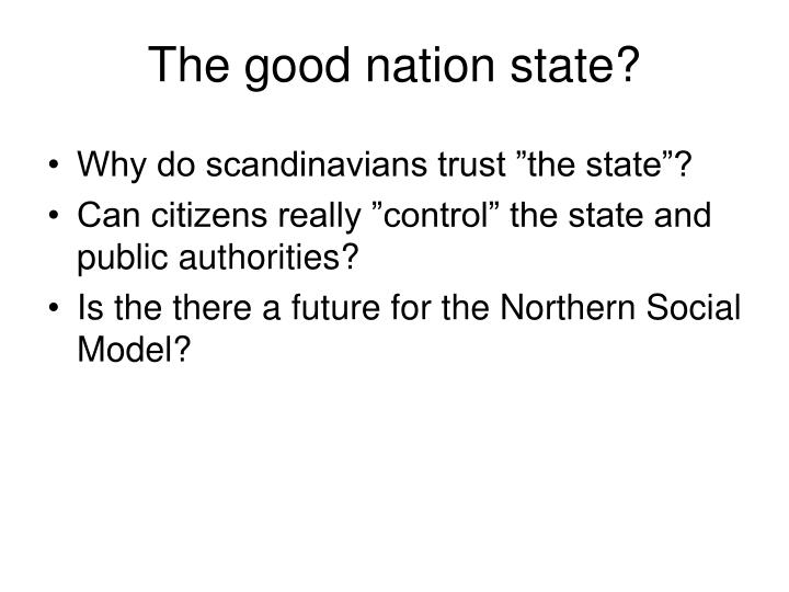 the good nation state n.