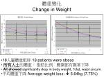 change in weight