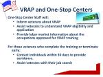 vrap and one stop centers