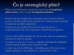o je strategick pl n