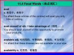 11 4 focal words