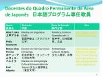 docentes do quadro permanente da rea de japon s