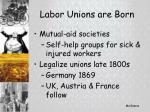 labor unions are born