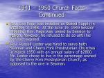 1941 1950 church facts continued