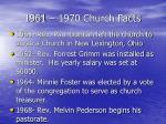1961 1970 church facts