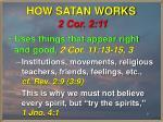 how satan works 2 cor 2 112