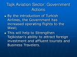 tajik aviation sector government actions