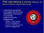 pilot international e survey mcewen and mason o connor report forthcoming