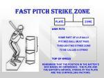 fast pitch strike zone